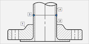 1-Lap Joint Flange | 2-Stub End | 3-Butt weld | 4-Pipe or Fitting