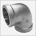 Socket Weld SS 304 IC Fitting - 90° Elbow - Cast Iron Fittings