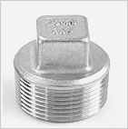 Threaded 304 IC Fitting - Square Plug - Cast iron Pipe Fittings
