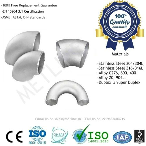 Stainless Steel Elbow Manufacturers, Suppliers, Factory