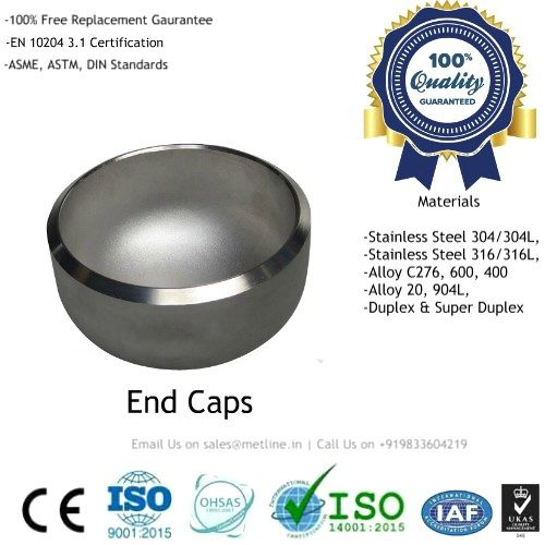 Stainless Steel End Caps Manufacturers, Suppliers, Factory