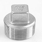Threaded 304 IC Fitting - Square Plug