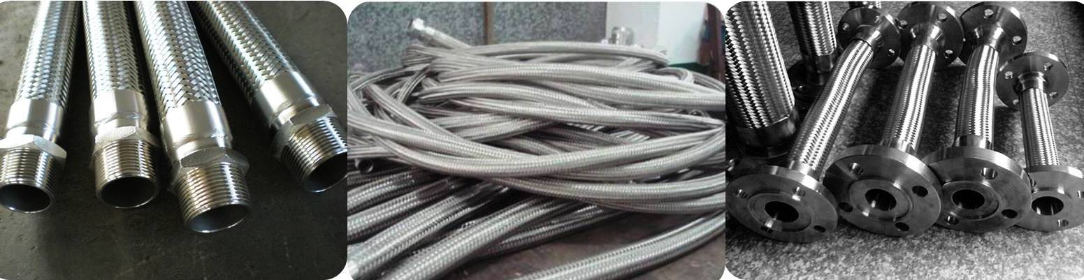 Stainless Steel Flexible Hose Pipes Suppliers, Manufacturers, Exporters in Jammu Kashmir, SS 304 Flexible Hoses, SS 316L Flexible Hoses Suppliers in Jammu Kashmir
