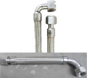 PTFE, Teflon, Stainless Steel Flexible Metal Hose Pipe with Elbow Pipe Ends