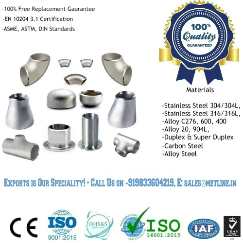 SS Pipe Fittings Manufacturers, Suppliers, Factory